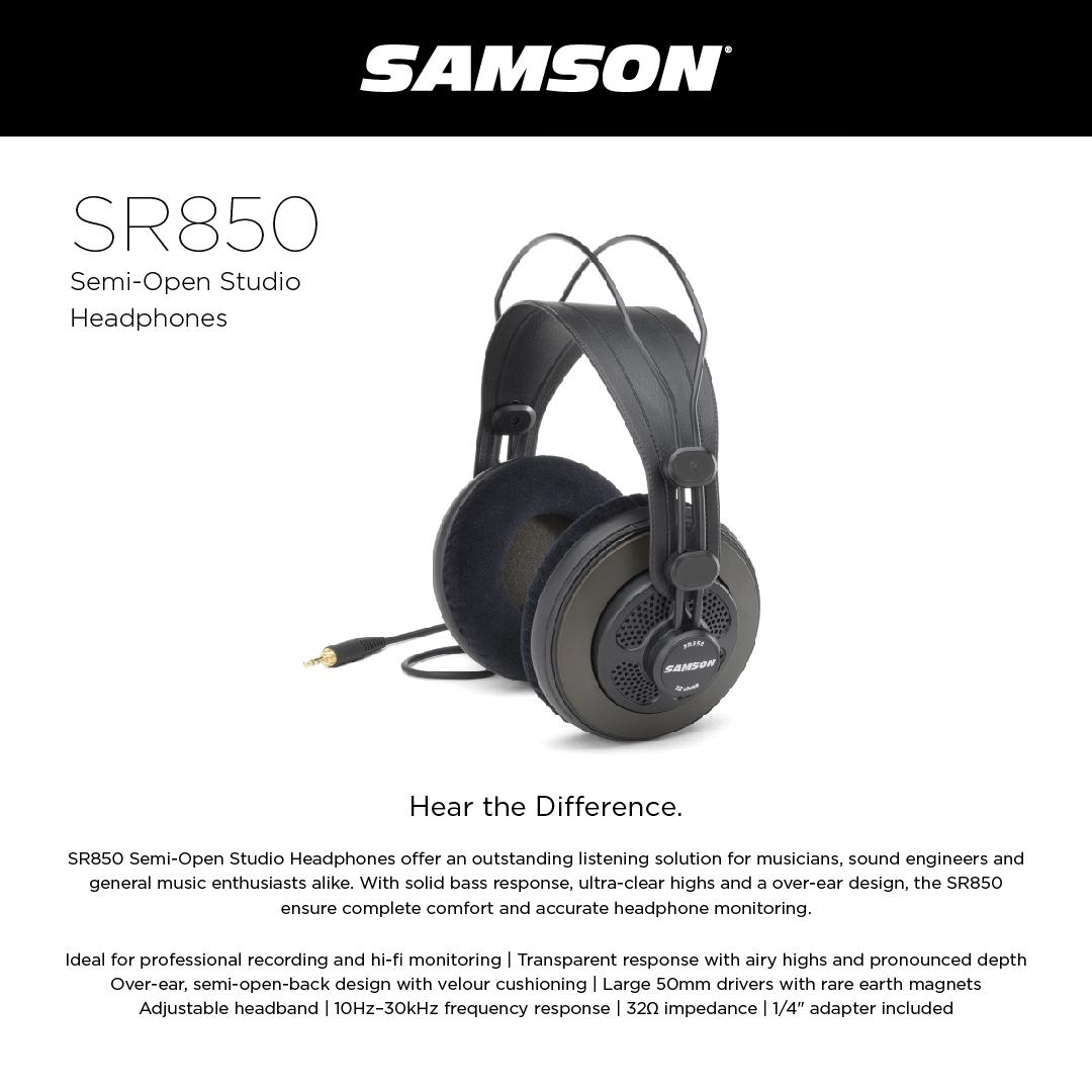 Samson SR850 - Semi-Open Studio Headphones 5