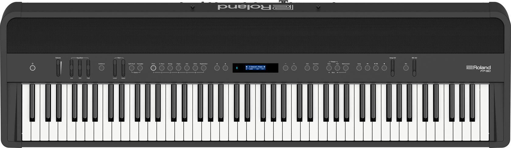 Roland FP-90 Digital Piano black front