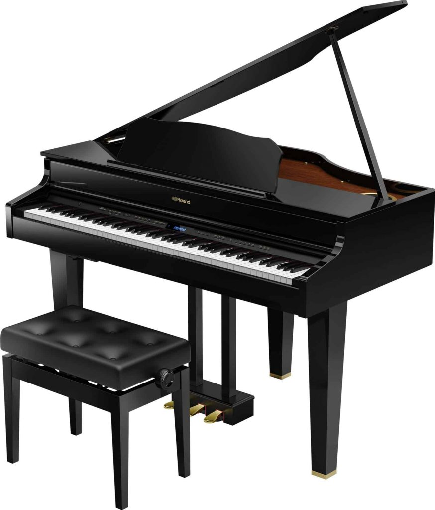 Roland GP-607 PEL Digital Grand Piano with chair