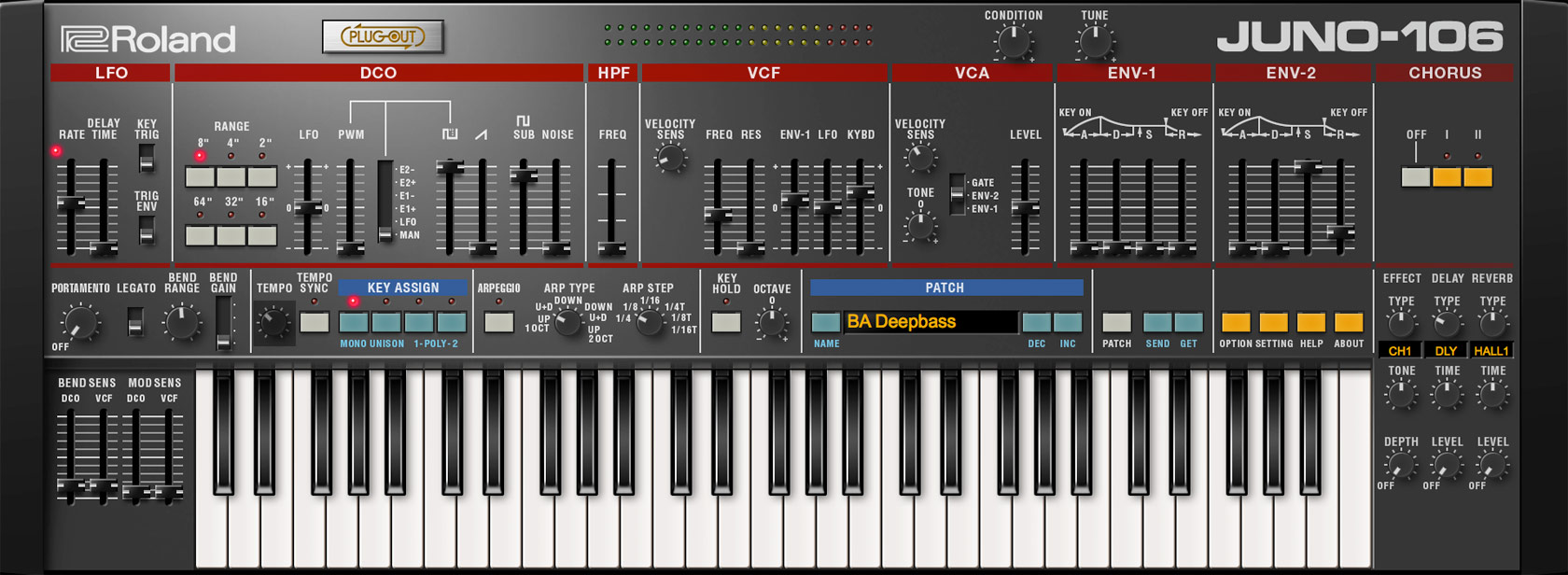 Roland Juno-106 Synthesizer Software