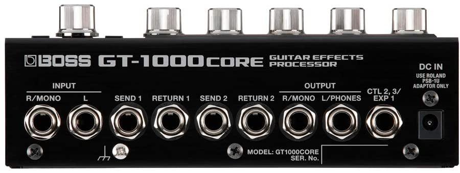 Boss GT-1000CORE Multi-effects Processor inputs