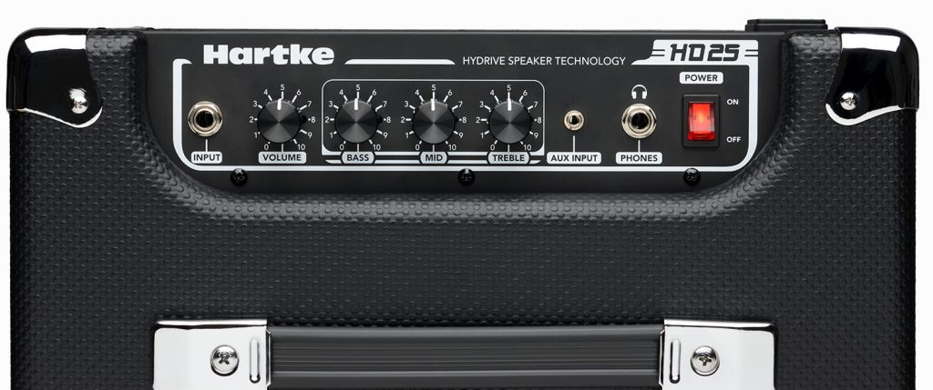 Hartke HD25 Bass Combo Amp top view